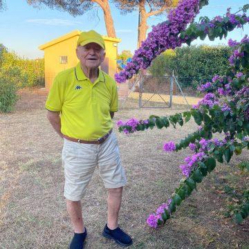 Con Rolando Nuti, 89 anni, del Podere La Regola