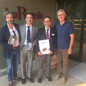 Giuliano Volpe con Luca e Flavio Nuti e Stefano Tonelli alla presentazione del Libro 'Un patrimonio italiano. Beni culturali, paesaggio e cittadini'