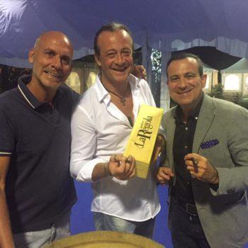 Il comico toscano Graziano Salvadori con Flavio Nuti al Bolgheri Festival 2017