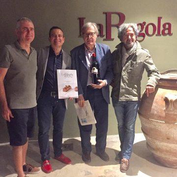Vittorio Sgarbi con Luca e Flavio Nuti e Stefano Tonelli