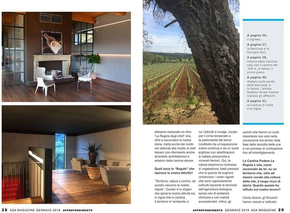 img 2904 1 Asa Magazine Gen/2019   Si parla della Cantina La Regola