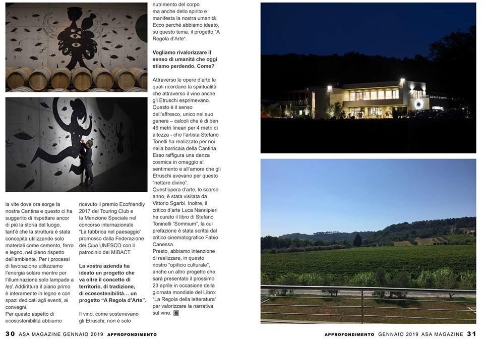 img 2905 1 Asa Magazine Gen/2019   Si parla della Cantina La Regola